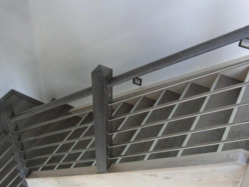 Treppenrenovierung In Gelander Kombination Aus Holz Edelstahl
