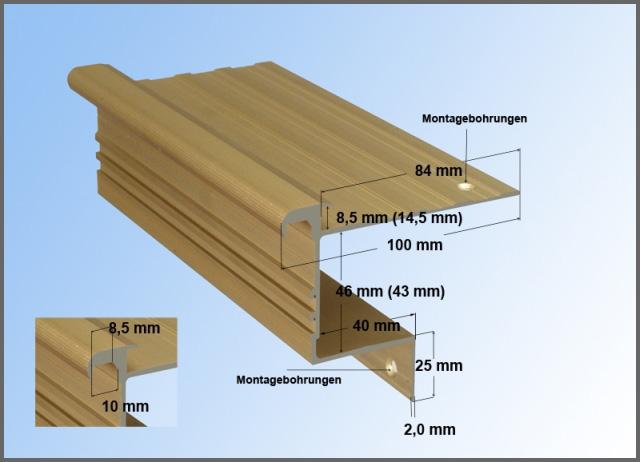 welches treppenkantenprofil passt zur treppe. Black Bedroom Furniture Sets. Home Design Ideas